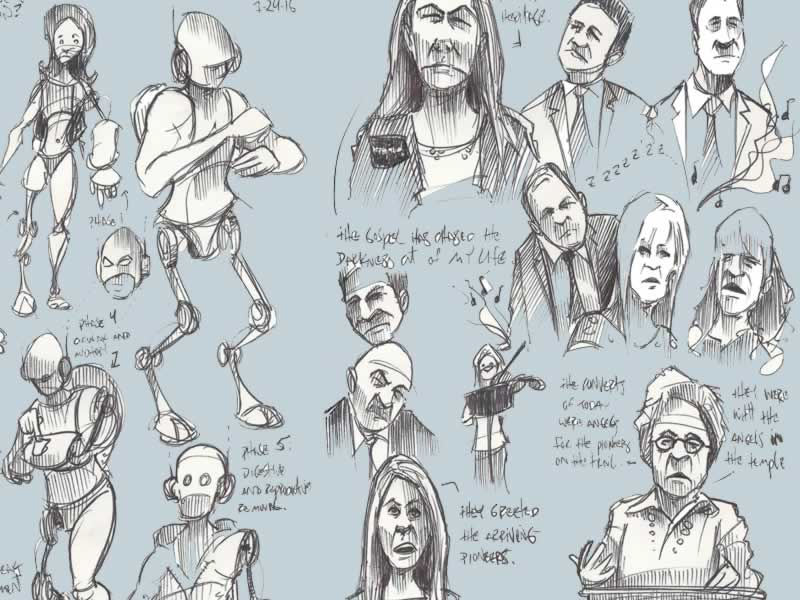 Eclectic Range of Sketches